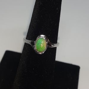 NEW 925 OPAL AUTHENTIC YELLOW OPAL RING